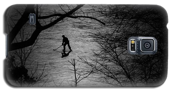 Hockey Silhouette Galaxy S5 Case by Andrew Fare