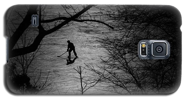 Ice Galaxy S5 Case - Hockey Silhouette by Andrew Fare