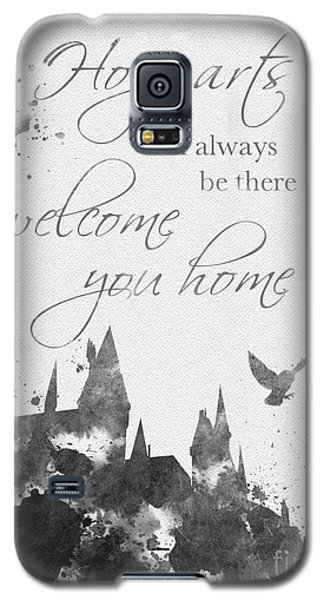 Hogwarts Quote Black And White Galaxy S5 Case by Rebecca Jenkins