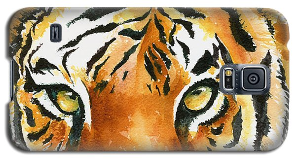 Galaxy S5 Case featuring the painting Hold That Tiger by Karen Mattson
