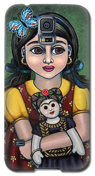 Holding Frida With Butterfly Galaxy S5 Case