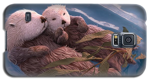 Otter Galaxy S5 Case - Holding Hands by Gary Hanna