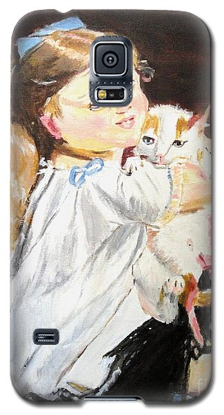 Galaxy S5 Case featuring the painting Holding On by Judy Kay