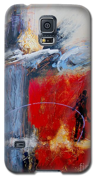 Galaxy S5 Case featuring the painting Holding The Light by Ron Stephens
