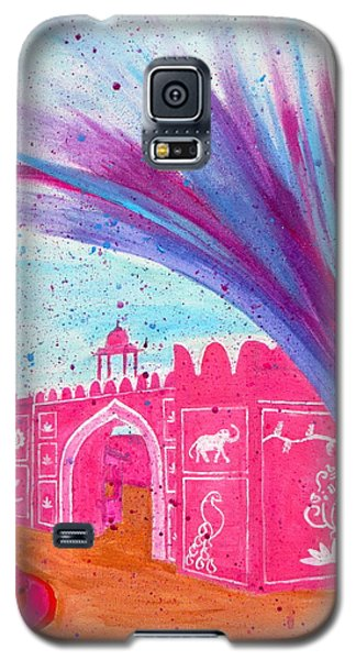 Holi In Jaipur India Galaxy S5 Case