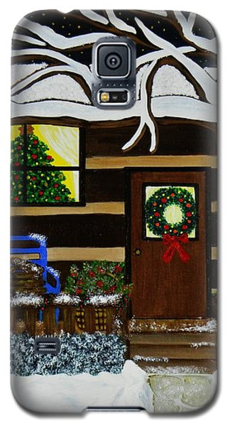 Holiday Cabin Galaxy S5 Case by Celeste Manning