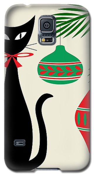 Holiday Cat On Cream Galaxy S5 Case