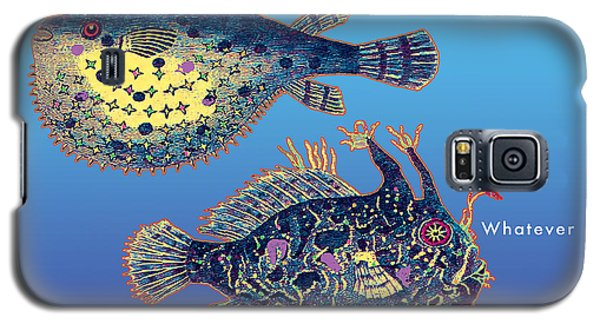 Galaxy S5 Case featuring the digital art Holiday Fish Card by David Klaboe