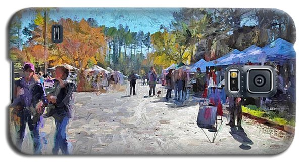 Galaxy S5 Case featuring the photograph Holiday Market by Ludwig Keck