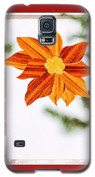 Holiday Pointsettia Art Ornament In Red Galaxy S5 Case
