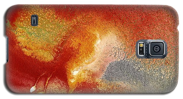 Holiday - Red Silver Gold Abstract Art By Kredart Galaxy S5 Case