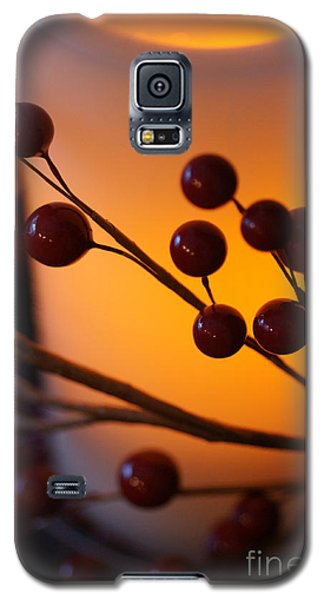 Galaxy S5 Case featuring the photograph Holiday Warmth By Candlelight 1 by Linda Shafer