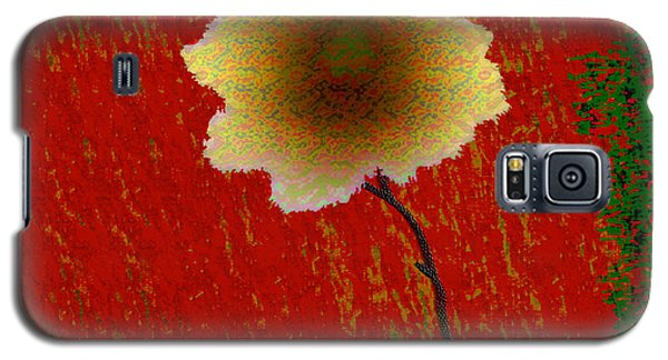Galaxy S5 Case featuring the digital art Hollyhock by Asok Mukhopadhyay