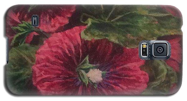 Red Hollyhocks Galaxy S5 Case