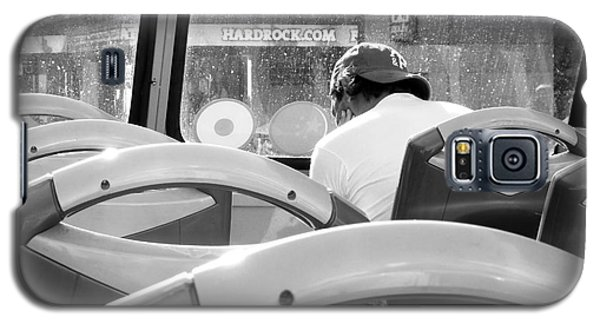 Hollywood Bus Tour Bw Galaxy S5 Case by Cheryl Del Toro