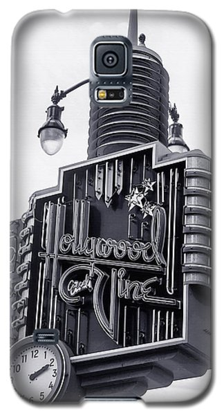 Hollywood Landmarks - Hollywood And Vine Sign Galaxy S5 Case by Art Block Collections