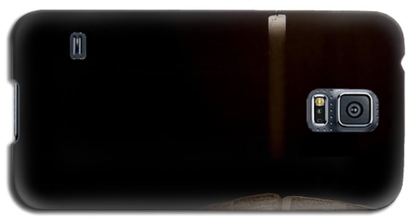 Galaxy S5 Case featuring the photograph Holy Bible Illuminated by Lincoln Rogers