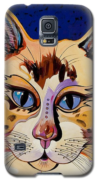 Galaxy S5 Case featuring the painting Holy Cat by Bob Coonts