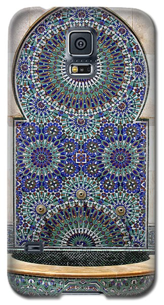 Holy Water Fountain Hassan II Mosque Sour Jdid Casablanca Morocco  Galaxy S5 Case by Ralph A  Ledergerber-Photography