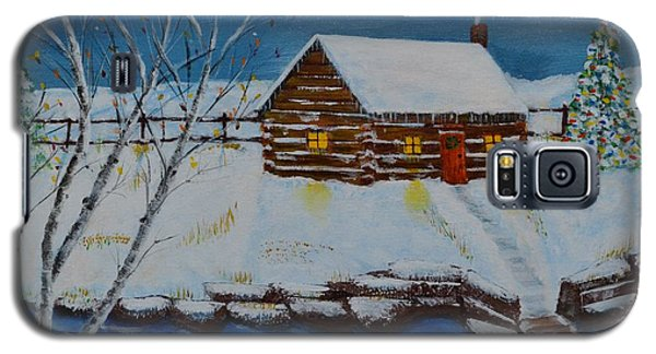 Galaxy S5 Case featuring the painting Cozy Christmas by Melvin Turner