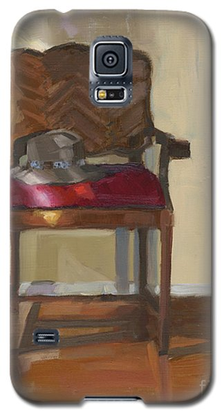 Galaxy S5 Case featuring the painting Sold Home Is Where Your Hat Lies by Nancy  Parsons