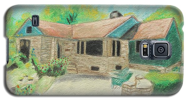 Galaxy S5 Case featuring the painting Home Sweet Home by Jeanne Fischer