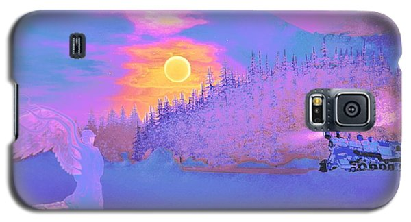 Homebound Train Angel And A Suitcase Galaxy S5 Case