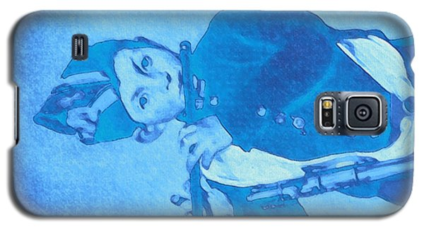 Galaxy S5 Case featuring the painting Hommage To Manet - The Wrongheaded Fifer By Briex by Nop Briex