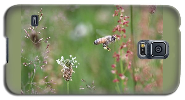 Honeybee Flying In A Meadow Galaxy S5 Case