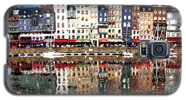Galaxy S5 Case featuring the photograph Long Horizontal Abstract - Honfleur Artists Village  by Jacqueline M Lewis
