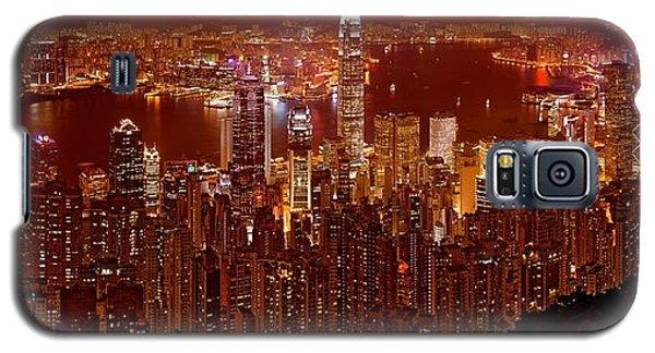 Hong Kong In Golden Brown Galaxy S5 Case