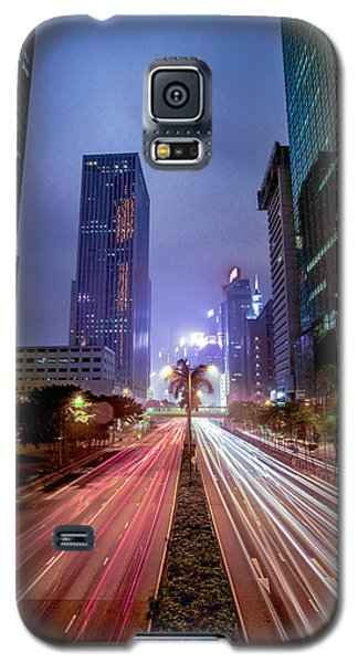 Galaxy S5 Case featuring the photograph Hong Kong Highway by Robert  Aycock