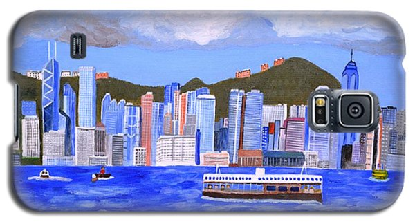 Galaxy S5 Case featuring the painting Hong Kong by Magdalena Frohnsdorff