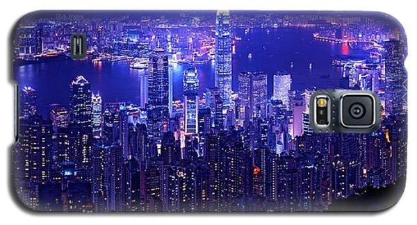 Hong Kong In Purple Galaxy S5 Case