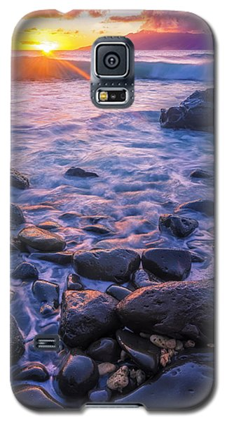 Galaxy S5 Case featuring the photograph Honolua Sunset by Hawaii  Fine Art Photography