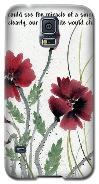 Galaxy S5 Case featuring the painting Honor With Buddha Quote I by Bill Searle