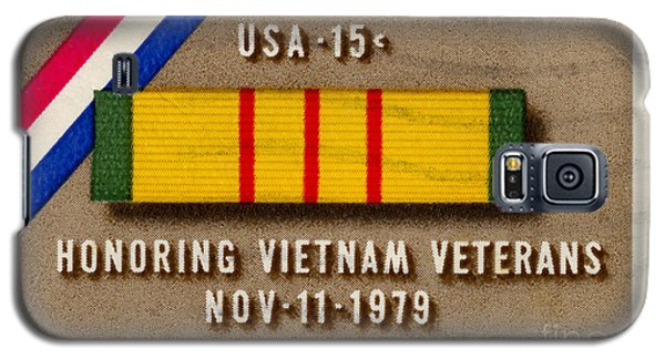 Honoring Vietnam Veterans Service Medal Postage Stamp Galaxy S5 Case by Phil Cardamone