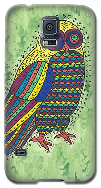 Galaxy S5 Case featuring the painting Hoot Owl by Susie Weber