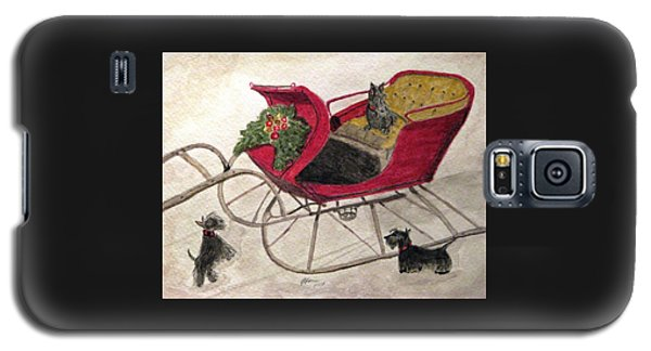 Hoping For A Sleigh Ride Galaxy S5 Case by Angela Davies