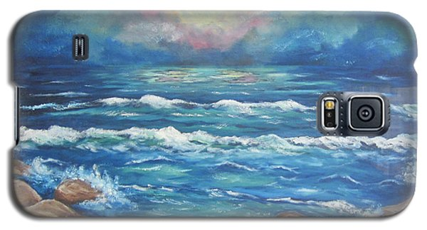 Galaxy S5 Case featuring the painting Horizons 2 by Cheryl Pettigrew