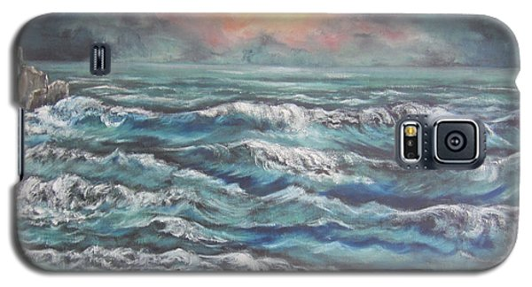 Galaxy S5 Case featuring the painting Horizons 3 by Cheryl Pettigrew