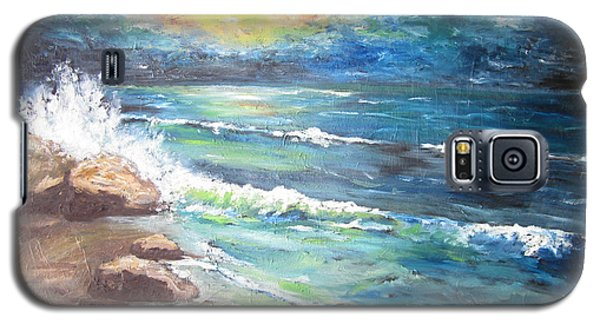Galaxy S5 Case featuring the painting Horizons by Cheryl Pettigrew