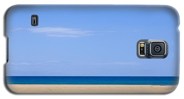 Horizontal Lines Of Sandy Beach Blue Sea And Sky Galaxy S5 Case