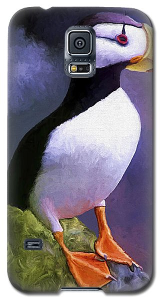 Horned Puffin Galaxy S5 Case by David Wagner