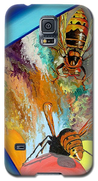 Galaxy S5 Case featuring the painting Hornets by Daniel Janda