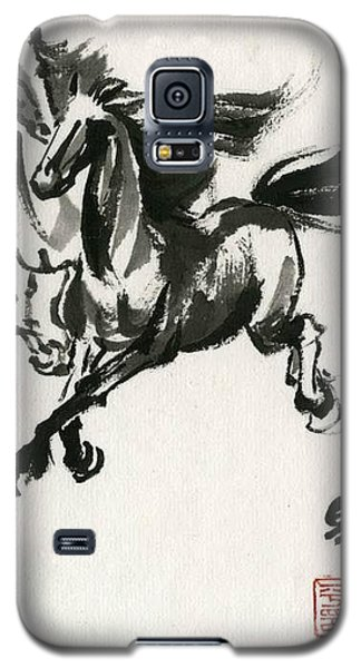 Galaxy S5 Case featuring the painting Horse #1 by Ping Yan