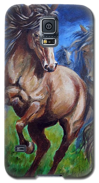 Galaxy S5 Case featuring the painting Horse 4 by Carol Hart