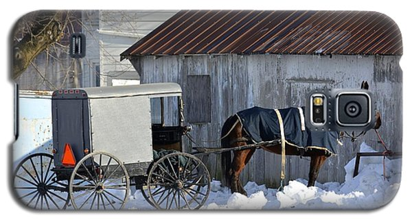Horse And Buggy Parked Galaxy S5 Case