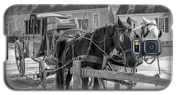 Galaxy S5 Case featuring the photograph Horse And Carriage  by Trace Kittrell