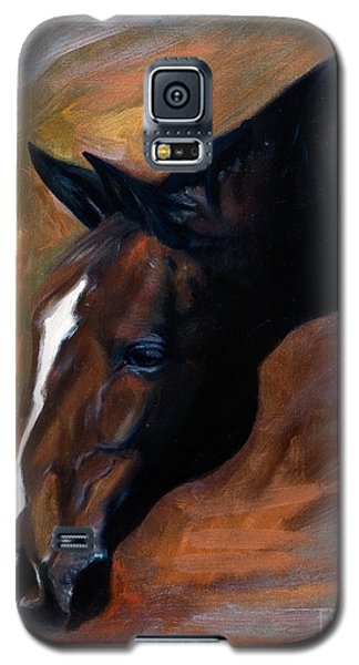 Galaxy S5 Case featuring the painting horse - Apple copper by Go Van Kampen